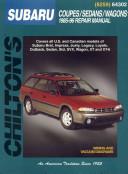 Subaru Coupes  Sedans  and Wagons  1985 96