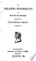L Orlando innamorato di Matteo M  Boiardo rifatto da Francesco Berni  Tomo 1    2