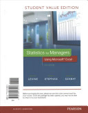 Statistics for Managers Using Microsoft Excel  Student Value Edition