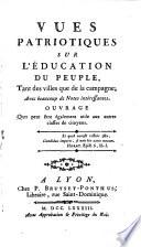 illustration du livre Vues patriotiques sur l'éducation du peuple, tant des villes que de la campagne, avec beaucoup de notes intéressantes