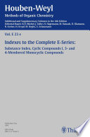 Houben Weyl Methods of Organic Chemistry Vol  E 23e  4th Edition Supplement