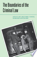 The Boundaries of the Criminal Law