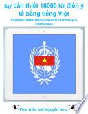 sự cần thiết 18000 từ điển y tế bằng tiếng Việt