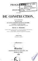 Programme ou résumé des leçons d'un cours de construction ...