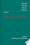 Fichte  The System of Ethics
