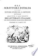 Gli scrittori d'Italia