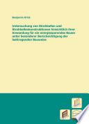 Untersuchung von Strohballen und Strohballenkonstruktionen hinsichtlich ihrer Anwendung f  r ein energiesparendes Bauen unter besonderer Ber  cksichtigung der lasttragenden Bauweise