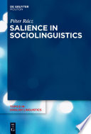 Salience in Sociolinguistics Salience In Sociolinguistics Salient Linguistic Variants