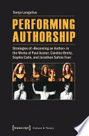 Performing Authorship