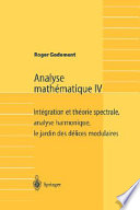 Analyse Mathmatique IV/ Mathematical Analysis IV