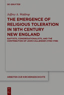 download ebook the emergence of religious toleration in eighteenth-century new england pdf epub