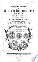 Kurzgefasste Geschichte des Wild- und Rheingräflichen Hauses