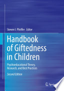 Handbook Of Giftedness In Children