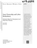 download ebook state ownership and labor redundancy pdf epub