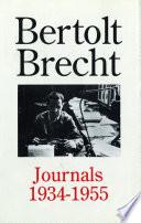 Bertolt Brecht Journals  1934 55