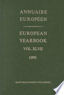 Annuaire Europeen 1999 European Yearbook 1999