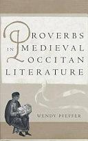 Proverbs in Medieval Occitan Literature