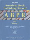 American Book Publishing Record Cumulative 2016