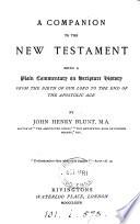 A companion to the New Testament Book PDF