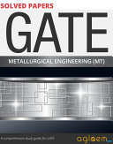 GATE Solved Papers for Metallurgical  MT