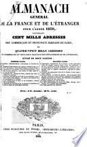Almanach ge ne ral de la France et de l'e tranger ...