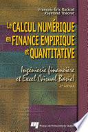 Le Calcul Num  rique en Finance Empirique et Quantitative