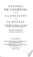 Eclaircissement pour la page 303 du premier volume des Pensees de Leibniz ou dissertation sur la migration de la peine des Damnes