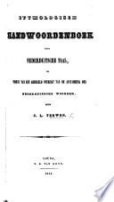 Etymologisch Handwoordenboek der Nederduitsche taal, etc