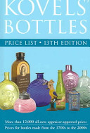 Kovels  Bottles Price List