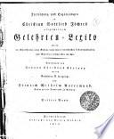 Fortsetzung und Ergänzungen zu Christian Gottlieb Jöchers allgemeinem Gelehrten-Lexiko worin die Schriftsteller ...