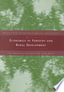 Economics of Forestry and Rural Development How It Relates To Community Development And Household