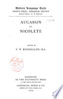 Aucassin Et Nicolete