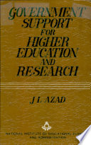 Government Support for Higher Education and Research Book PDF