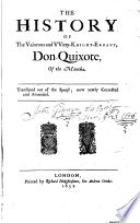 The History Of The Valorous And Wity Knight Errant Don Quixote Of The Mancha