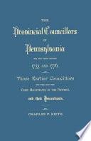 The Provincial Councillors of Pennsylvania