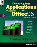 Developing Applications with Microsoft Office 95