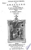 Giulio de gli Obizzi, of Aballino onder de Calabriërs