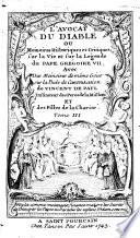 L'avocat du diable, ou mémoires historiques et critiques sur la vie et la légende du pape Grégoire VII