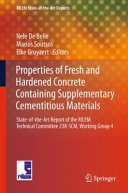 Properties Of Fresh And Hardened Concrete Containing Supplementary Cementitious Materials