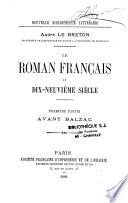 Le roman fran  ais au dix neuvi  me si  cle