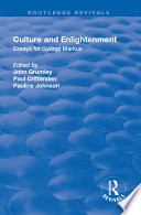 Culture and Enlightenment Essays for György Markus