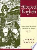 Altered English