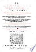 Il memoriale della lingua italiana     ridotto in ordine d alfabeto     In questa seconda impressione vi e il supplimento o giunta d autori moderni  etc