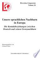 Unsere sprachlichen Nachbarn in Europa