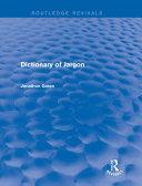 download ebook dictionary of jargon (routledge revivals) pdf epub