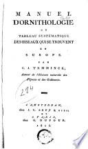 Manuel d ornithologie ou tableau syst  matique des oiseaux qui se trouvent en Europe