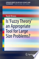 Is Fuzzy Theory An Appropriate Tool For Large Size Problems