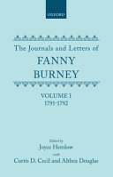 The Journals And Letters Of Fanny Burney Madame D Arblay 1791 1792 Letters 1 39