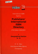 Publishers' International ISBN Directory