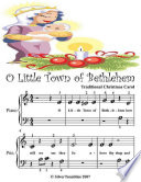 O Little Town of Bethlehem - Beginner Tots Piano Sheet Music